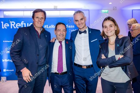 Stock Picture of Jerome Chartier, Jean Luc Romero-Michel, Frederic Gal and Elisabandh Chaland-Cluny.