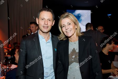 Marc-Olivier Fogiel and Claire Chazal.