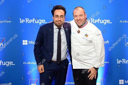 Mounir Mahjoubi and Guillaume Gomez.