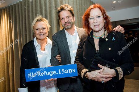 Muriel Robin, Arnaud Poivre d'Arvor and Eva Darlan.