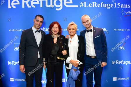 Nicolas Noguier, Eva Darlan, Muriel Robin and Frederic Gal.