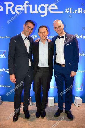 Nicolas Noguier, Marc-Olivier Fogiel and Frederic Gal.