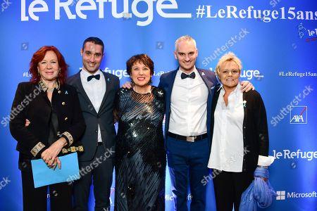 Eva Darlan, Nicolas Noguier, Roselyne Bachelot, Frederic Gal and Muriel Robin.