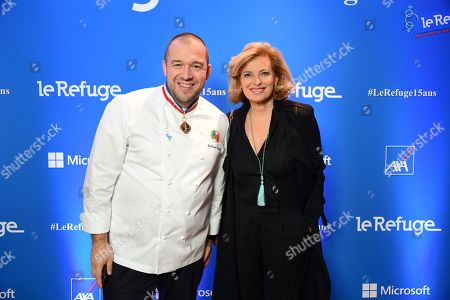 Guillaume Gomez and Valerie Trierweiler.