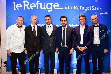 Guillaume Gomez, Franck Riester, Nicolas Noguier, Mounir Mahjoubi, Benjamin Griveaux and Frederic Gal.