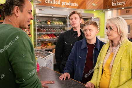 Ep 9637 Wednesday 12th December 2018 - 2nd Ep Sinead Osbourne, as played by Katie McGlynn, is touched when Beth presents her with the cash to fund specialist treatment but after she clocks a balaclava on the table and Dev Alahan, as played by Jimmi Harkishin, and Cathy later tell her Chesney Brown, as played by Sam Aston, was mugged, her mind whirls. With Daniel Osbourne, as played by Rob Mallard.