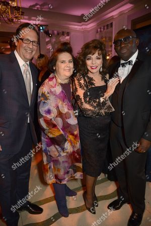 Percy Gibson, Suzy Menkes, Joan Collins and Edward Enninful
