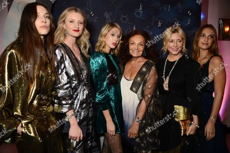 Stock Image of Jacquelyn Jablonski, Candice Lake, Princess Maria-Olympia of Greece, Diane von Furstenberg, Marie-Chantal, Marie-Chantal and Denmark and Talita von Furstenberg