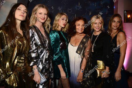 Jacquelyn Jablonski, Candice Lake, Princess Maria-Olympia of Greece, Diane von Furstenberg, Marie-Chantal, Marie-Chantal and Denmark and Talita von Furstenberg
