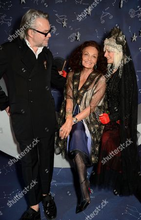 David Downton, Diane von Furstenberg and Virginia Bates