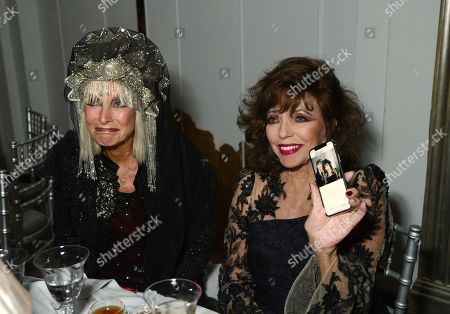 Virginia Bates and Joan Collins