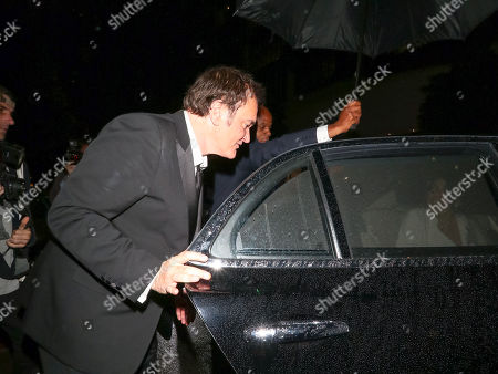 Quentin Tarantino outside Michael Chow in Beverly Hills
