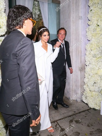 Quentin Tarantino and Daniella Pick outside Michael Chow in Beverly Hills