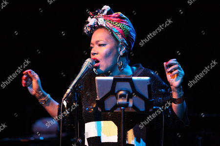 Editorial picture of US jazz singer China Moses in concert, Gorzow Wielkopolski, Poland - 29 Nov 2018