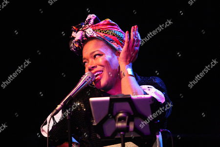 Editorial image of US jazz singer China Moses in concert, Gorzow Wielkopolski, Poland - 29 Nov 2018