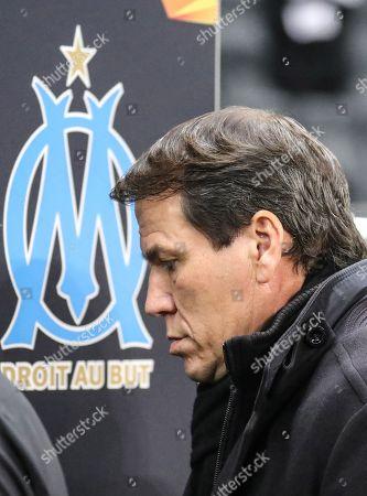 Marseille's head coach Rudi Garcia prior to the UEFA Europa League group H soccer match between Eintracht Frankfurt and Olympique Marseille in Frankfurt Main, Germany, 29 November 2018.