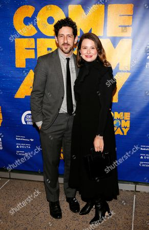 Stock Photo of Adam Shapiro and Katie Lowes