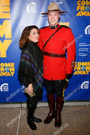 Eileen Galindo and a member of the Royal Canadian Mounted Police