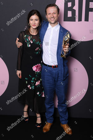 Stock Photo of Orlando von Einsiedel and Joanna Natasegara - Best Documentary - 'Evelyn'