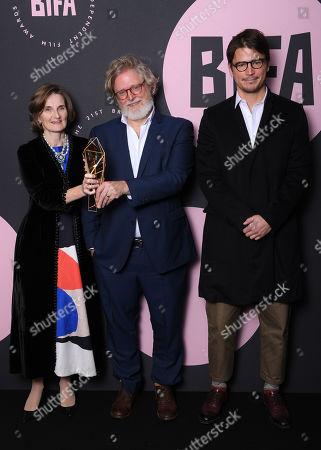 Deborah Davis and Tony McNamara - Best Screenplay - 'The Favourite', presented by Josh Hartnett
