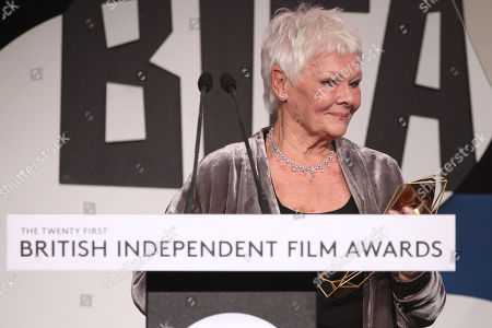 Stock Picture of Judi Dench - The Richard Harris Award for Outstanding Contribution by an Actor to British Film, presented by Ella Harris
