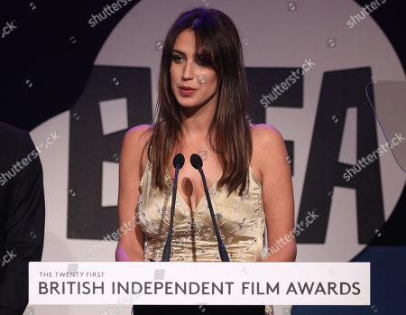 Ella Harris presenting The Richard Harris Award for Outstanding Contribution by an Actor to British Film