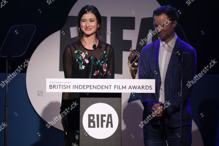 Stock Image of Orlando von Einsiedel and Joanna Natasegara - Best Documentary - 'Evelyn'