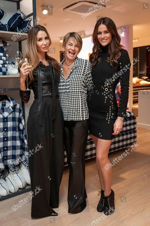 Stock Photo of Gyunel Boateng, Kim Johnson, Suzanne Alkadhi. Model Gyunel Boateng, from left, designers Suzanne Alkadhi and Kim Johnson attend a bed manufacturers launch in London