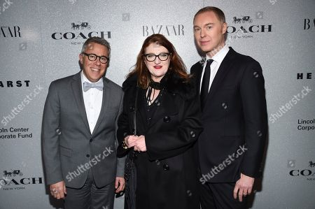 Russell Granet, Glenda Bailey, Stuart Vevers. Lincoln Center for the Performing Arts acting president Russell Granet, left, Harper's Bazaar Editor-in-Chief Glenda Bailey, and Coach creative director Stuart Vevers pose together at the Lincoln Center Corporate Fund fashion gala honoring Coach at Alice Tully Hall, in New York