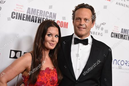 Vince Vaughn, Kyla Weber. Vince Vaughn, right, and Kyla Weber arrive at the American Cinematheque Award ceremony honoring Bradley Cooper, at the Beverly Hilton Hotel in Beverly Hills, Calif