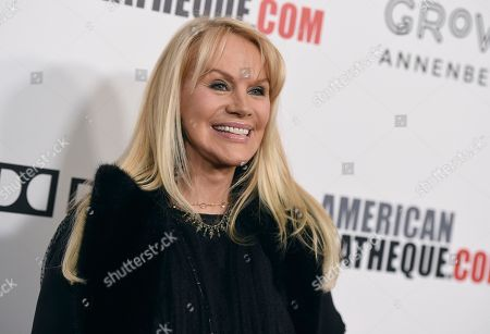 Joan Dangerfield arrives at the American Cinematheque Award ceremony honoring Bradley Cooper, at the Beverly Hilton Hotel in Beverly Hills, Calif