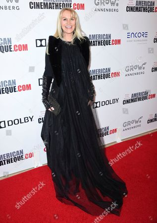Stock Photo of Joan Dangerfield arrives at the American Cinematheque Award ceremony honoring Bradley Cooper, at the Beverly Hilton Hotel in Beverly Hills, Calif