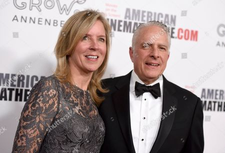 Barbara Nash, Mark Badagliacca. Mark Badagliacca, CFO, Paramount Pictures, right, and Barbara Nash arrive at the American Cinematheque Award ceremony honoring Bradley Cooper, at the Beverly Hilton Hotel in Beverly Hills, Calif