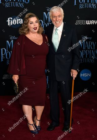 "Stock Picture of Dick Van Dyke, Arlene Silver. Dick Van Dyke, a cast member in ""Mary Poppins Returns,"" poses with his wife Arlene Silver at the premiere of the film at the Dolby Theatre, in Los Angeles"