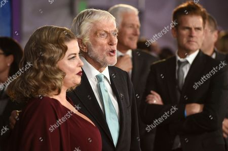 "Dick Van Dyke, Arlene Silver. Dick Van Dyke, a cast member in ""Mary Poppins Returns,"" poses with his wife Arlene Silver at the premiere of the film at the Dolby Theatre, in Los Angeles"
