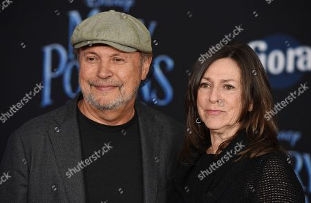 "Billy Crystal, Janice Crystal. Actor-comedian Billy Crystal and his wife Janice pose together at the premiere of the film ""Mary Poppins Returns"" at the Dolby Theatre, in Los Angeles"