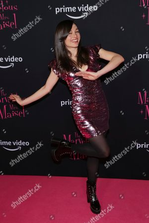 "Lilli Stein attends the Amazon Prime Video original series ""The Marvelous Mrs. Maisel"" season two premiere at the Paris Theatre, in New York"