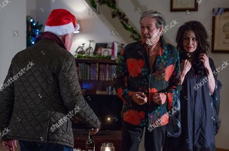 Ep 8344 Thursday 20th December 2018 - 2nd Ep Faith Dingle, as played by Sally Dexter, has a plan to get Rodney Blackstock, as played by Patrick Mower, out of Pollard's house but after a few failed attempts, Faith uses her womanly charms to seduce Rodney. As Pollard, as played by Christopher Chittell, walks in on them kissing, will Faith's plan have worked?