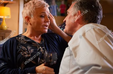 Ep 8329 Tuesday 4th December 2018 Bob Hope, as played by Tony Audenshaw, offers to cover so Brenda Hope, as played by Lesley Dunlop, can look after the poorly twins and it's clear he's enjoying being back in the fold. When Brenda returns to Connelton, she's saddened to realise the twins are hoping for a reconciliation between her and Bob and she's firm as she explains that's not going to happen. But despite everything, it's clear Brenda enjoys having Bob around. They cozy up as they share a glass of wine, but when Bob moves in for a kiss will Brenda reciprocate?