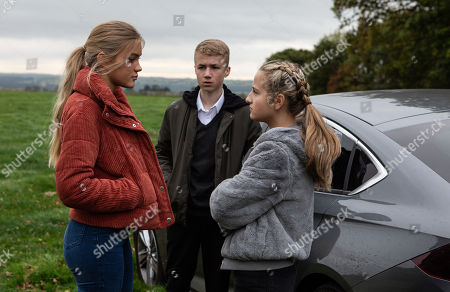 Ep 8332 Thursday 6th December 2018 - 2nd Ep An argument between the kids escalates and Amelia is soon pulling Leanna's hair causing the car to swerve dangerously onto a grass verge.... In a field, the car has come to a stop and there's a long silence as a shocked Leanna, as played by Mimi Slinger, Noah Dingle, as played by Jack Downham, and Amelia Spencer, as played by Daisy Campbell, process what just happened. They abandon the car...