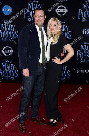 Stock Image of Michael Gladis and Beth Behrs