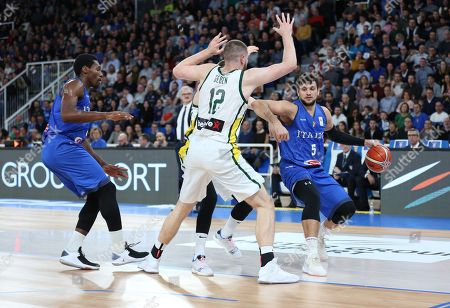 Alessandro Gentile for Italy during the Second Round, Group J, Game Day 9 at Pala Leonessa
