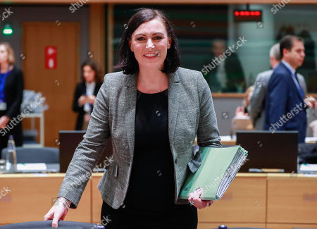 Austrian Minister for Sustainability and Tourism Elisabeth Kostinger at the start of a  General Affairs Council meeting on cohesion at the European Council in Brussels, Belgium, 30 November 2018.