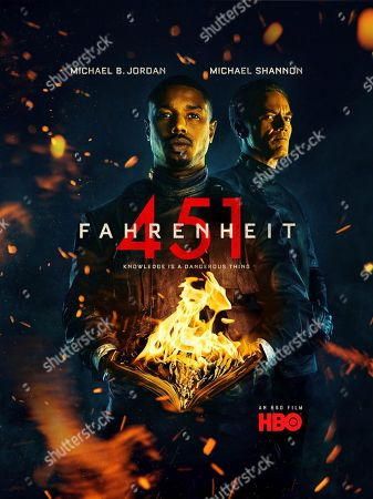 Michael B. Jordan, Michael Shannon. Fahrenheit 451 Poster Art