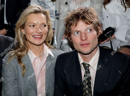 Kate Moss and Count Nikolai von Bismarck in the front row