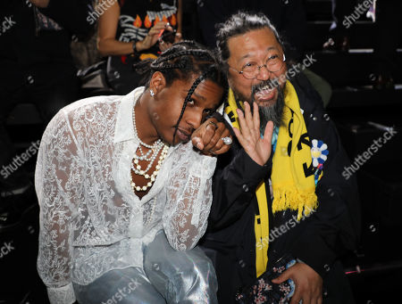 Asap Rocky and Takashi Murakami in the front row