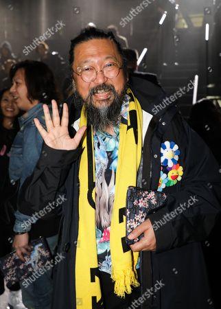 Takashi Murakami in the front row