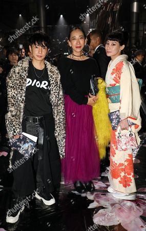Yuya Nara, Mika Ninagawa and Mademoiselle Yulia in the front row