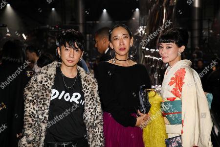 Stock Image of Yuya Nara, Mika Ninagawa and Mademoiselle Yulia in the front row