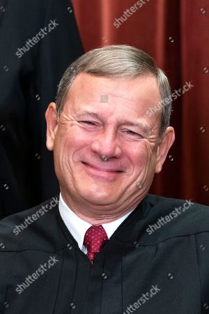 United States Chief Justice John G. Roberts poses for an official portrait in the East Conference Room of the Supreme Court in Washington, DC, USA, 30 November 2018. On 06 October 2018, after a bitterly contentious nomination fight, Brett Kavanaugh became the 114th Justice of the Supreme Court.